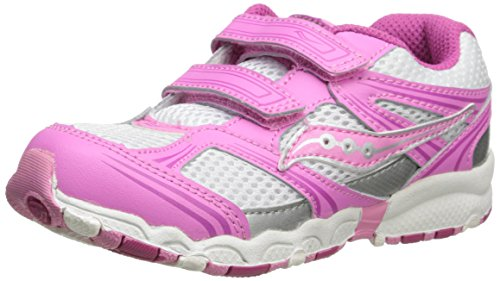 Saucony Girls Baby Catalyst Hl Running Shoe (Toddler),White/Pink,10 W Us Toddler