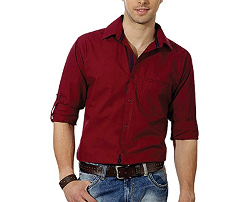 Entigue-Mens-Cotton-Casual-Shirt-Red