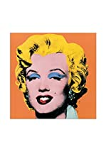Artopweb Panel Decorativo Warhol Shot Orange Marilyn, 1964 - 25X25 cm Bordo Nero