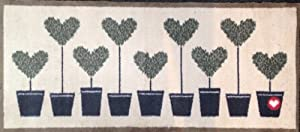 Hug Rug Dirt Trapper Door Mat Runner 65 x 150cm - Topiary Hearts from Hug Rug