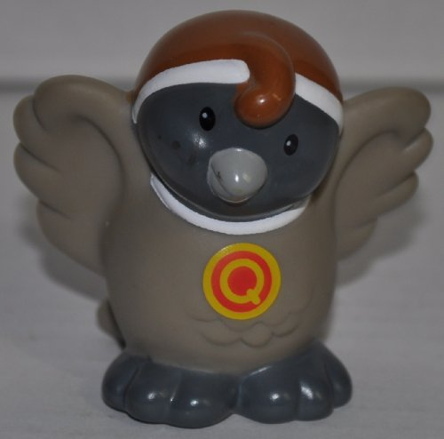 "Little People Quail ""Q"" on Chest (2004) - Replacement Figure Accessory - Classic Fisher Price Collectible Figures - Loose Out Of Package & Print (OOP) - Zoo Circus Ark Pet Castle - 1"