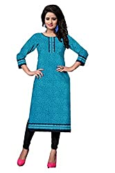 Riddhi Dresses Women's Cotton Unstitched kurti (Riddhi Dresses 26_Multi Coloured_Free Size)