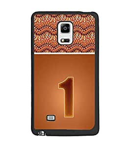 PrintDhaba Numerology Number 1 D-3633 Back Case Cover for SAMSUNG GALAXY NOTE EDGE (Multi-Coloured)