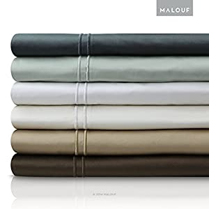 Malouf Fine Linens 600 Thread Count GENUINE EGYPTIAN COTTON Single Ply Bed Sheet Set