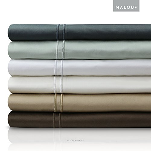 Malouf Fine Linens 400 Thread Count Genuine Egyptian Cotton Single Ply Bed Sheet Set front-1016723