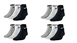 Pack Of 12 Pairs Socks With Nike Logo Sports Ankle Length Cotton Towel Socks ...