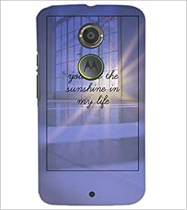 PrintDhaba Quote D-4896 Back Case Cover for MOTOROLA MOTO X2 (Multi-Coloured)