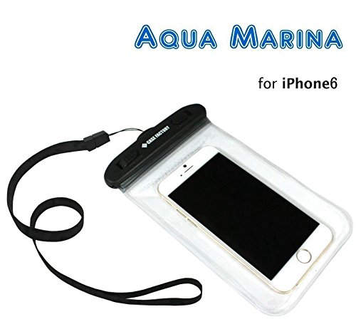 CASE FACTORY 防水ケース AQUA MARINA for iPhone6(4.7)/5s,GALAXY Note3,Xperia Z2/1,  防水保護等級 IPX8 ネックストラップ付属 AAM-002 クリア