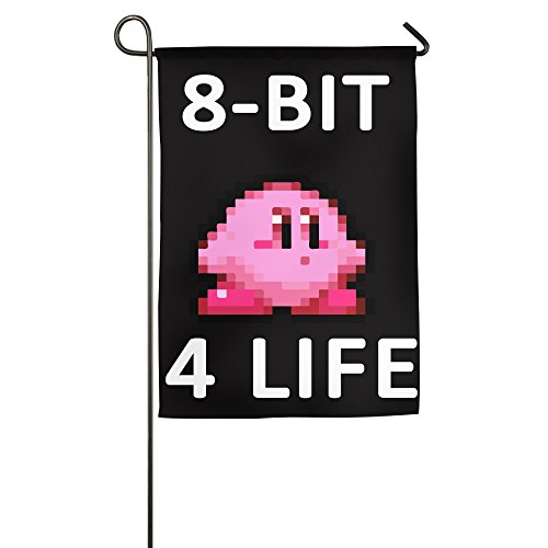 Kirby-8 Bit For Life Kirby One-Sided,Decorative Nylon Home Garden Flags 1827inch (Kirby Halloween compare prices)