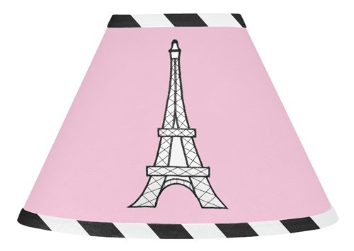 Pink, Black And White Paris French Eifell Tower Lamp Shade By Sweet Jojo Designs