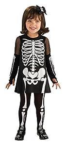 Mottoland - Kinderkostüm Skeleton Girl 2-3 Jahre