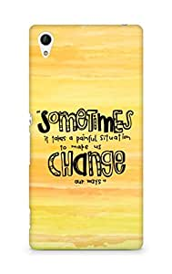 AMEZ painful situation change us Back Cover For Sony Xperia Z4