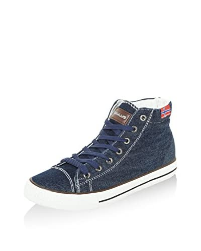 Nebulus Sneaker Denim High blau