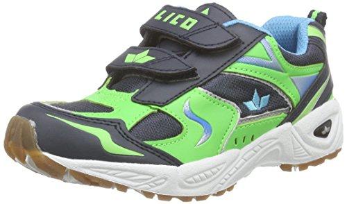 LicoBob VS - Scarpe Sportive Indoor Ragazzi , Verde (Green (gruen/marine/blau)), 35.5