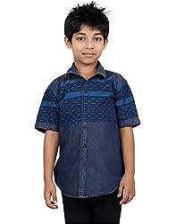 Zeal Boy's Pre-Washed Denim Half Sleeves Cotton Shirt