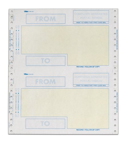 Adams All Purpose Self Mailer Forms, 4 Part Carbon, 9.5 x 5.5 Inches, 500 Sets per Box, White (5061)