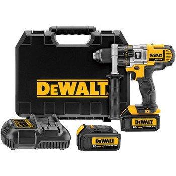 Dewalt Dcd985M2 20V Max Cordless Lithium-Ion 1/2 In. Premium 3-Speed Hammer Drill Kit With 4.0 Ah Batteries