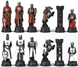 Crusades Chess Set 3.25 King Chessmen