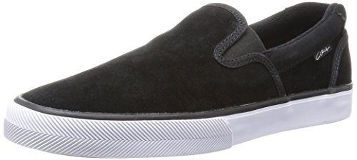 C1RCA Men's Corpus Skate Shoe, Black/White, 9 M US