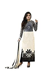 Feeldeal Crepe Printed unstitched dress material-16