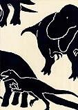 丸全 【そそぎ染めで染めた本格手拭い】 手拭 恐竜 726