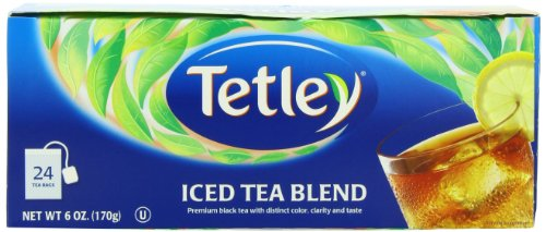 Tetley Usa Square Iced Tea Blend Family Size, 24-Count Packages (Pack Of 6)