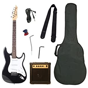 barcelona beginner series 39 inch electric guitar with 10 watt amp strap cable. Black Bedroom Furniture Sets. Home Design Ideas