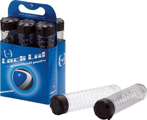 New - Dye Lock Lid 160 Round Paintball Pods 6 Pack - Smoke