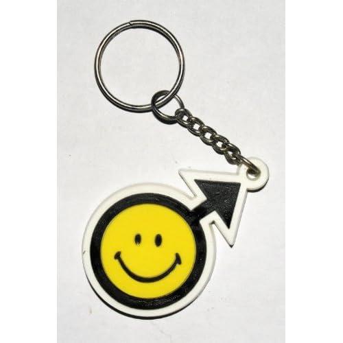 Smiley Schlüsselanhänger Key Ring Kautschuk Gummi Keyring auch als