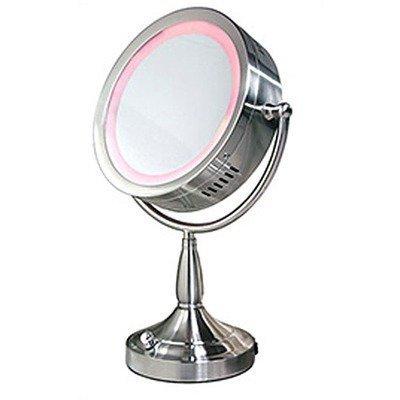 "Lighted Swivel Vanity Makeup Mirror (Satin Nickel) (16""H X 11""W X 6""D) front-1030288"