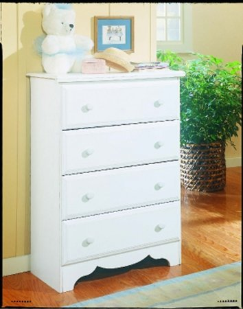 New Visions by Lane 924-318 4-Drawer Chest, White