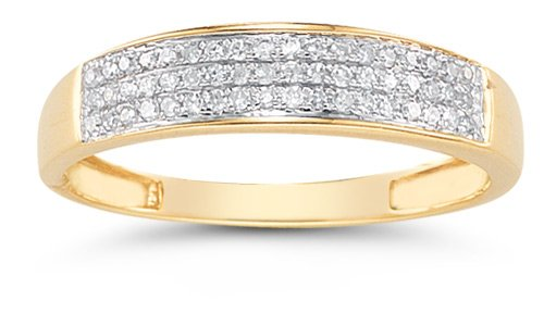 Domed Women&#8217;s Diamond Wedding Band in 14K Gold