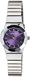 Sonata Eva Analog Purple Dial Womens Watch - 8981SM02