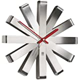 Umbra Ribbon Stainless Steel Wall Clock