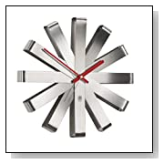 Modern Ribbon Stainless Steel Wall Clock