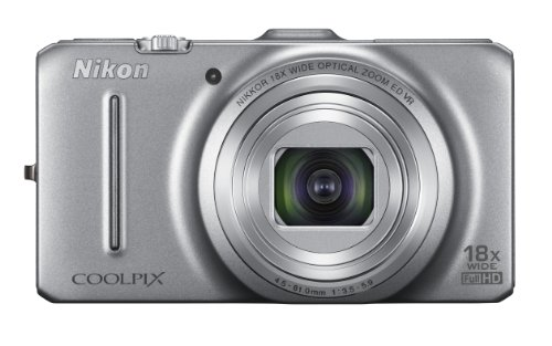 Nikon COOLPIX S9300 16 MP CMOS Digital Camera with 18x Zoom NIKKOR ED Glass Lens and Full HD 1080p Video (Silver)