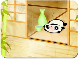 tappetino-per-mouse-motivo-panda-stanco-e-felice-con-sake