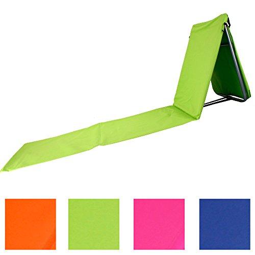 Faltbare-Strandliege-mit-Lehne-und-Tasche-in-4-sommerlichen-Farben-Modell-RELAX-Grn