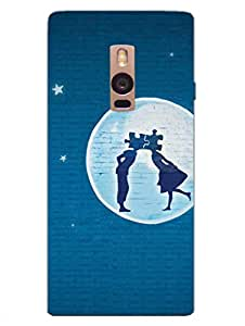 Couple In The Dark Night - Moonlight - Hard Back Case Cover for OnePlus Two - Superior Matte Finish - HD Printed Cases and Covers