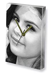 SELENA GOMEZ - Canvas Clock (LARGE A3 - Signed by the Artist) #js002