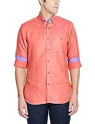 Raymond Men's Linen Casual Shirt  (8907249261075_RCSX00582-R5_Red_39)