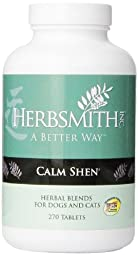 Herbsmith 270-Tablet Calm Shen Herbal Supplement for Dogs and Cats