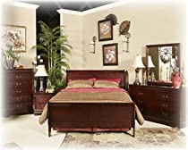 Hot Sale Ashley Alisdair traditional King Panel Bedroom in Dark Brown
