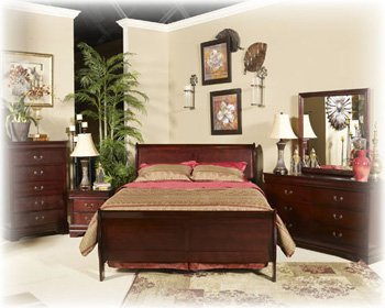Ashley Alisdair traditional Twin Panel Bedroom in Dark Brown