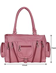Kacey::Kacey Pink Shoulder Bag::Kacey Shoulder Bag::Plain Shoulder Bag::Women Shoulder Bag::PU Shoulder Bag::Casual...