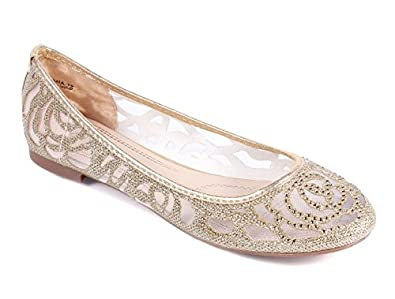 New Blink Nets Style Cute Narrow Wedding Womens Ballet Flats Dress Shoes New Without Box