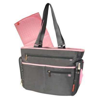 Fisher-price Fastfinder Diaper Bag Tote - Grey/pink - 1