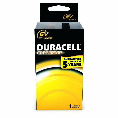 Duracell Mn908T Alkaline-Manganese Dioxide Battery Tray, Lantern Size, 6V (Case Of 12)