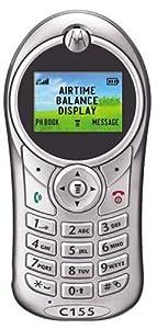 MOTOROLA C155 SILVER PREPAID NET10 CELL PHONE