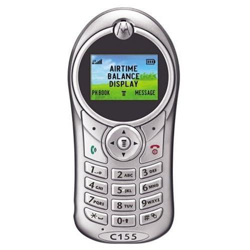 Amazon.com: MOTOROLA C155 SILVER PREPAID NET10 CELL PHONE
